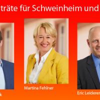 Drei Stadträte für Schweinmheim und Gailbach